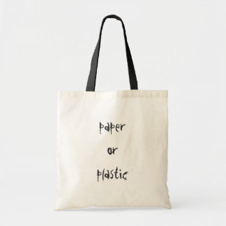 paper or plastic canvas bags