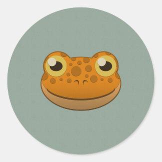 Paper Orange Frog Classic Round Sticker
