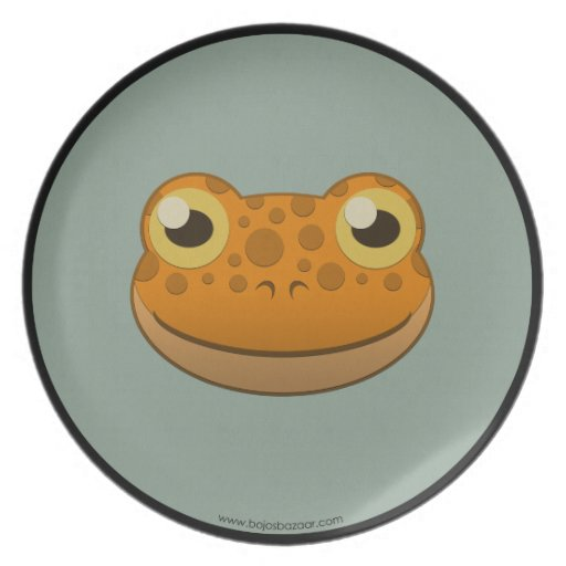 Paper Orange Frog Party Plate