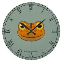Paper Orange Frog Wallclock