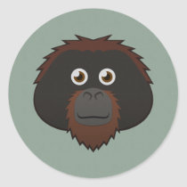 Paper Orangutan Sticker Sheet