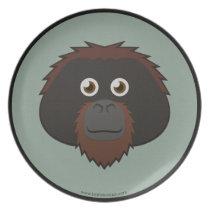 Paper Orangutan Plate