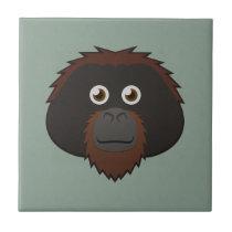 Paper Orangutan Ceramic Tile