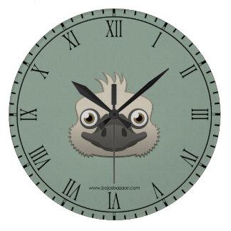 Paper Ostrich Large Clock