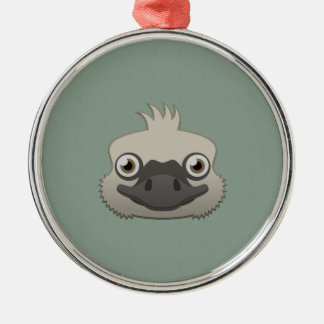 Paper Ostrich Christmas Ornament