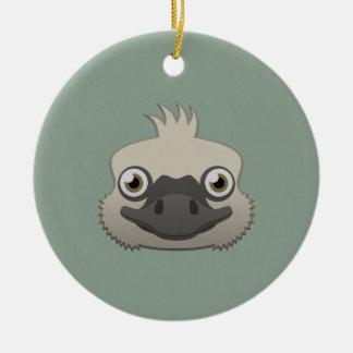 Paper Ostrich Christmas Tree Ornaments