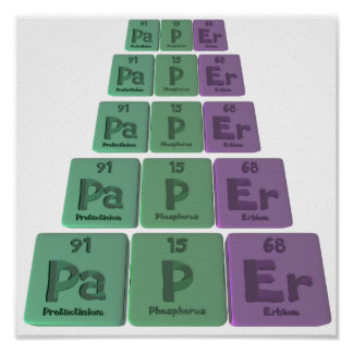 Paper-Pa-P-Er-Protactinium-Phosphorus-Erbium.png Posters
