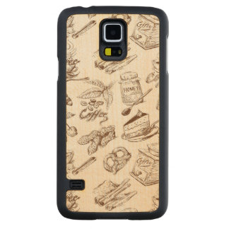 Paper pattern carved maple galaxy s5 slim case