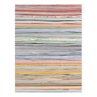 Paper pattern postcard