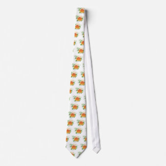 Paper pattern with green leaf 04 neck tie