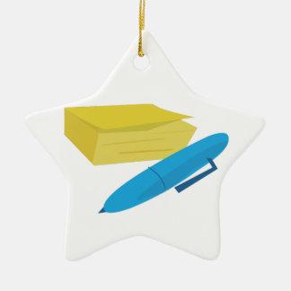 Paper & Pen Christmas Ornament