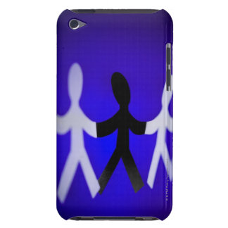 Paper people cutouts iPod touch cover