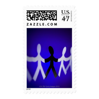 Paper people cutouts postage