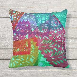 Paper Picado (Papel Picado) Plate Throw Pillow