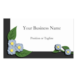 Paper-Pieced Blue Floral Business Card