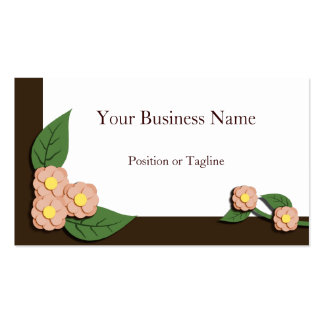 Paper-Pieced Floral Business Card