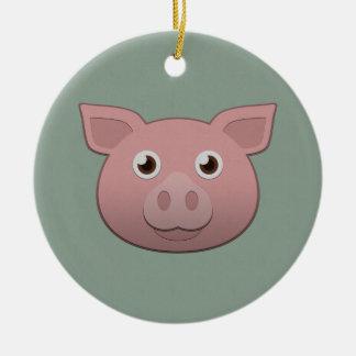Paper Pig Ceramic Ornament