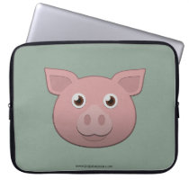 Paper Pig Laptop Sleeve