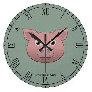 Paper Pig Large Clock
