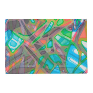 Paper Placemat Colorful Stained Glass