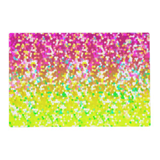 Paper Placemat Glitter Graphic