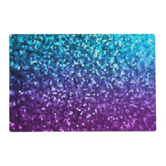 Paper Placemat Mosaic Sparkley Texture