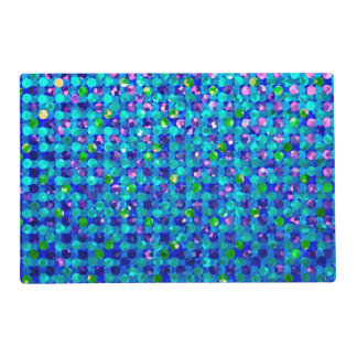 Paper Placemat Polka Dots Sparkley Jewels