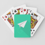Paper plane playing cards