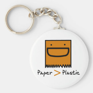 Paper > Plastic Keychain
