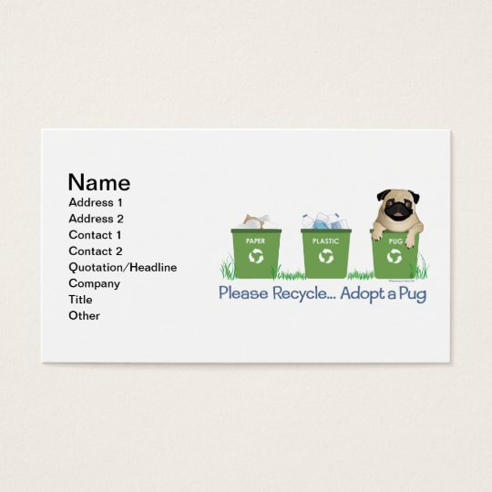 Paper Plastic Pug Business Card