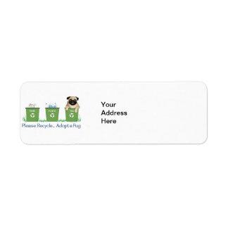 Paper Plastic Pug Label