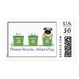 Paper Plastic Pug Postage