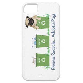 Paper, Plastic, Pug Smartphone Cases