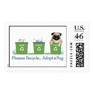 Paper Plastic Pug Stamps