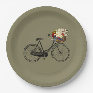 Paper plate   bicycle bike taupe