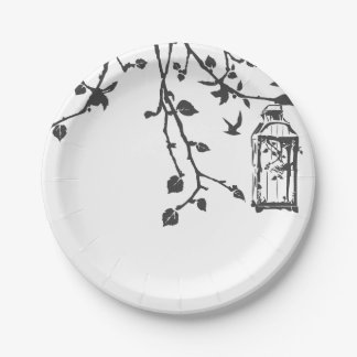 Paper Plate-Birds, branches, leaves Paper Plate