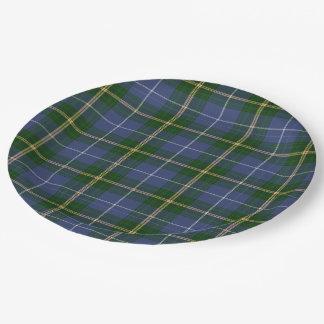 Paper plate   blue Nova Scotia Tartan plaid