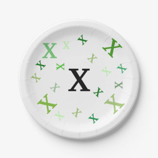Paper Plate - Jumbled Letters in Greens