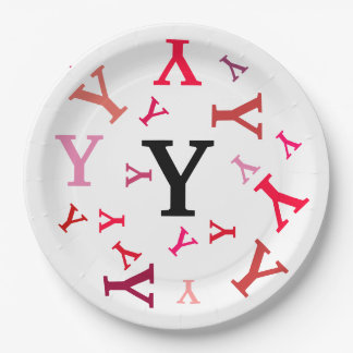 Paper Plate - Jumbled Letters in Reds and Pinks