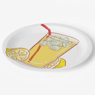 Paper plate Lemonade lemon