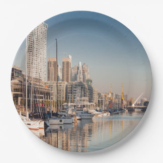 Paper plate Marina and Bateaux #1