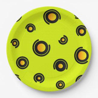 """Paper plate - Model """"Sphéris"""" - Green background"""