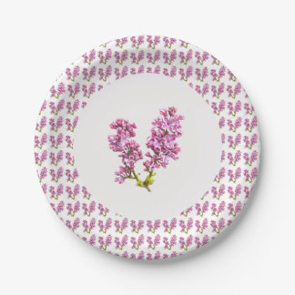 Paper Plate - Multiple Lilacs (vers. 2) 7 Inch Paper Plate