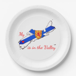 Paper plate My Heart is in the valley Nova Scotia