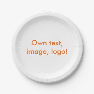 Paper Plate uni White