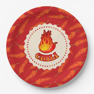 Paper plate with chilli pepper
