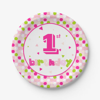 "Paper Plates 7"" Customize Age"
