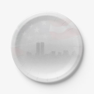 """Paper plates 7"""" - Freedom Fog 7 Inch Paper Plate"""