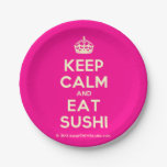 [Crown] keep calm and eat sushi  Paper Plates 7 Inch Paper Plate