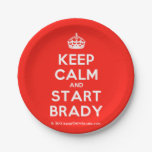 [Crown] keep calm and start brady  Paper Plates 7 Inch Paper Plate